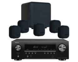 DENON AVR-S650H + MONITOR AUDIO MASS 5.1 házimozi szett, fekete