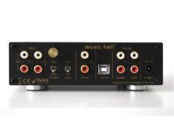 Music Hall  pa2.2 lemezjátszó erősítő, fekete