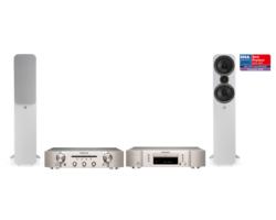 Marantz PM5005+CD5005 ezüst + Q Acoustics QA 3050i fehér sztereó szett