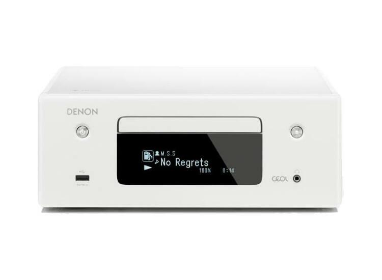 Denon RCDN-10 sztereó CD/rádióerősítő, fehér