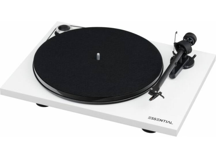 Pro-Ject Essential III Digital analóg lemezjátszó + OM-10 hangszedő, fényes fehér