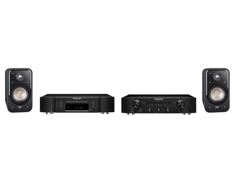 Marantz PM5005+CD5005 fekete + Polk Audio Signature E20 fekete sztereó szett