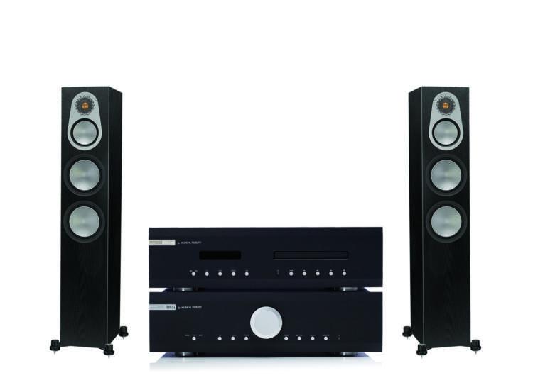Monitor Audio Silver 300 + Musical Fidelity M6si + M6scd CD, sztereó szett