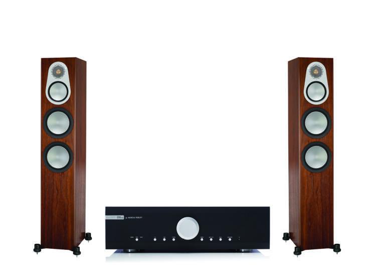 Monitor Audio Silver 300 + Musical Fidelity M6si, sztereó szett