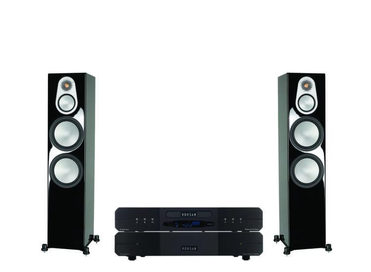 Monitor Audio Silver 500 HGL + Roksan Caspian Power AMP + CD, sztereó szett