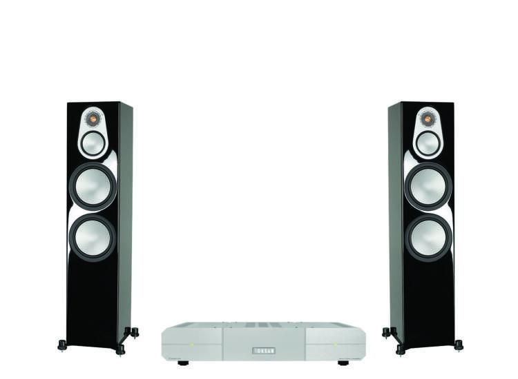 Monitor Audio Silver 500 HGL + Roksan Caspian Power AMP, sztereó szett
