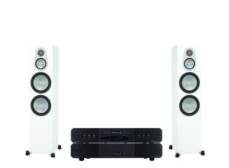 Monitor Audio Silver 500 + Roksan Caspian Power AMP + CD, sztereó szett